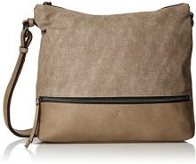 Tom Tailor 24017, Borsa a tracolla Donna, Beige (Beige (taupe 21)), 9.5x31x38 cm (B x H x T)
