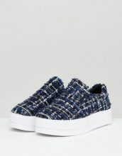 Sellis - Sneakers in tweed senza lacci