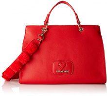 Love Moschino Borsa Pu+poliestere - Borse a secchiello Donna, Rosso, 13x24x33 cm (B x H T)