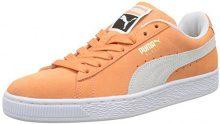 Puma Suede Classic, Scarpe Unisex – Adulto, Arancione (Melon-Puma White), 38.5 EU