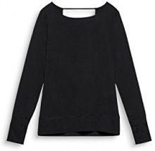 ESPRIT Sports 077ei1k003-e-Dry Langarm, Camicia Sportiva Donna, Nero (Black 001), 38 (Taglia Produttore: Medium)