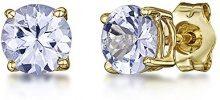 Theia Donna  9 carati  oro giallo Rotonda   blu Tanzanite