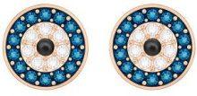 Orecchini Duo Evil Eye, multicolore, placcato oro rosa