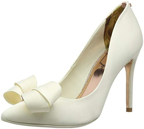 Baker Punta col Scarpe Avorio Ivory Ted Donna Tacco Skalett Chiusa BSqUwwOx