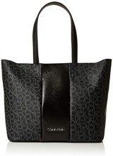 Calvin Klein Jeans Mono Block Shopper - Borse a spalla Donna, Nero (Black Mono/Black), 15x30x47 cm (B x H T)