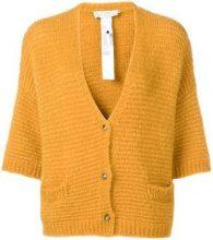 - L'Autre Chose - buttoned V - neck cardigan - women - mohair/fibra sintetica - M, S, L - di colore arancione