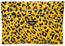 - Dvf Diane Von Furstenberg - leopard print clutch bag - women - fibra sintetica - Taglia Unica - di colore giallo