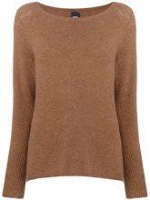 - Max Mara - round neck jumper - women - Wool/Alpaca/Polyamide/Spandex/Elastane - S - Marrone