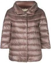 - Herno - 3/4 sleeve puffer jacket - women - fibra sintetica/acetato/cotonepiuma d'oca - 40, 42, 44, 46, 48, 38 - di colore rosa