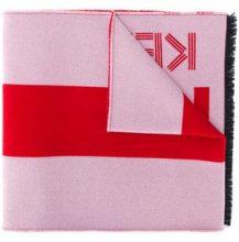 - Kenzo - logo print scarf - women - seta/lana/fibra sintetica - Taglia Unica - di colore rosa