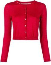 - Red Valentino - crew neck knit cardigan - women - Polyamide/Silk/Cashmere - M - Rosso