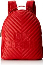 Love Moschino Borsa Quilted Pu - Borse a zainetto Donna, Rosso, 12x31x25 cm (B x H T)