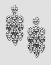 Orecchini grigio piombo con cristalli lussuosi
