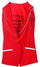 - Each X Other - Gilet decorato con catena - women - fibra sintetica/acetato - XS , S, M - di colore rosso