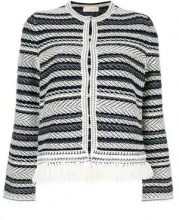 - Tory Burch - distressed style jacket - women - cotone - S - di colore blu