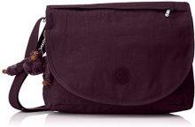 Kipling Orleane - Borse a tracolla Donna, Violett (Plum Purple), 32x11x23 cm (B x H T)