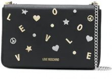 - Love Moschino - embellished crossbody bag - women - fibra sintetica - Taglia Unica - di colore nero
