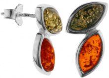 InCollections - Orecchini a lobo da donna con ambra, argento sterling 925, cod. 0020262010340