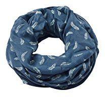 ESPRIT Accessoires 998ea1q802, Sciarpa Donna, Blu (Dark Blue 405), Taglia Unica