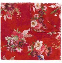 - Twin - Set - floral print scarf - women - fibra sintetica - Taglia Unica - di colore rosso