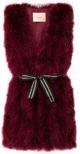 - Twin - Set - Turkey feather gilet - women - fibra sintetica/piume di tacchino - L - di colore rosso