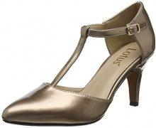 Lotus Camomile, Scarpe col Tacco con Cinturino a T Donna, Oro (Rose Gold RSE Gld), 37 EU