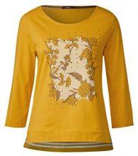 Cecil 311873, Maglietta a Maniche Lunghe Donna, Giallo (Golden Lemonade 31197), XS