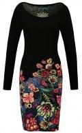 MARTINA - Vestito di maglia - black