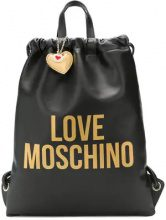 - Love Moschino - Love drawstring backpack - women - Leather - Taglia Unica - di colore nero