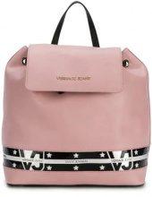 - Versace Jeans - star stripe backpack - women - fibra sintetica - Taglia Unica - di colore rosa