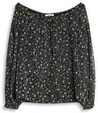 edc by Esprit 047cc1f009, Camicia Donna, (Black), 42 (Taglia Produttore: X-Large)