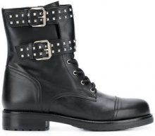 - Albano - buckle detail ankle boots - women - gomma/pelle/pelle di vitello - 38, 41, 36, 39, 37, 40 - di colore nero