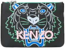- Kenzo - Clutch A4 Tiger - women - Leather - Taglia Unica - Nero