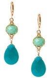 David Aubrey - orecchini pendenti di giada pietra turchese & blu turchese