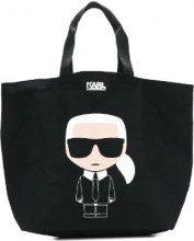 - Karl Lagerfeld - K/Ikonik canvas bag - women - cotone - Taglia Unica - di colore nero