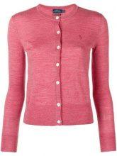- Polo Ralph Lauren - classic fitted cardigan - women - lana merino - L - di colore rosso