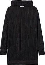 FIND Hooded  Felpa Donna, Nero (Black), 52 (Taglia Produttore: XXX-Large)