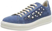 Manas Bermuda, Sneaker Donna, Blu Jeans 003, 37 EU