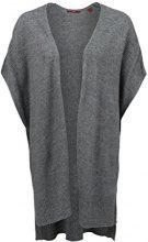 s.Oliver 14.607.67.5900, Mantella Donna, Grigio (Grey Melange Knit), 40