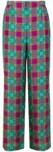 - Alberta Ferretti - Pantaloni a palazzo - women - seta/fibra sintetica - 40, 42 - di colore rosa