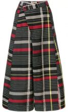 - Henrik Vibskov - checked palazzo trousers - women - cotone - XS - multicolore