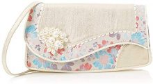 Irregular Choice Swirly - Pochette da giorno Donna, Avorio (Cream), 10x16x30 cm (W x H L)