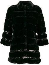 - Twin - Set - oversized fur coat - women - fibra sintetica - 46, 42 - di colore nero