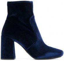 - Prada - Stivali alla caviglia - women - Leather/Polyester/Velvet - 36, 38.5, 36.5 - Blu