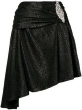 - Dodo Bar Or - Gonna asimmetrica con motivo leopardato - women - Polyester/Spandex/Elastane - 42 - di colore nero