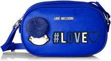 Love Moschino Borsa Pu - Borse a spalla Donna, Blu, 6x13x21 cm (B x H T)