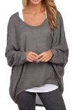 ZANZEA Donna Maglia a Manica Lunga Cardigan Asimmetrico Camicia Pullover Camicetta Superiore