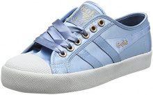 Gola Coaster Satin Indian Teal/White, Sneaker Donna, Blu Ex, 39 EU