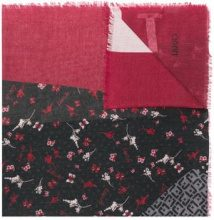 - Liu Jo - frayed hem printed scarf - women - viscose/Polyester - Taglia Unica - di colore rosso