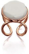 Fiorelli Costume da donna placcato oro rosa pietra anello–Taglia L, Rose Gold, Grande